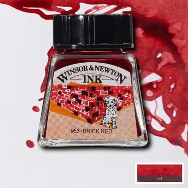 Ink-14ml-Brick-Red-Winsor-&-Newton