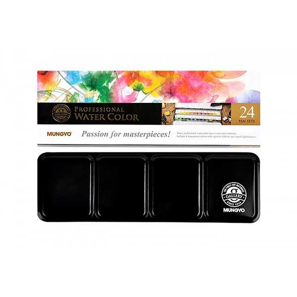 Professional-Water-Color-Pan-Set-of24-Front-Mungyo
