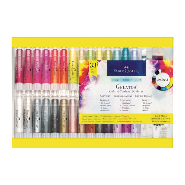 Faber-Castell-Gelatos-Watersoluble-Crayons-33pc-Gift-Set-Front-of-Package