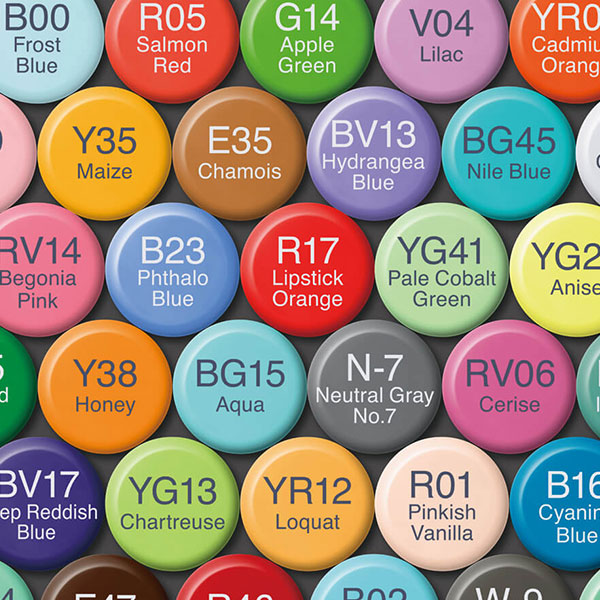 New-Copic-Refill-Ink-Caps-matching-with-the-ink-colours