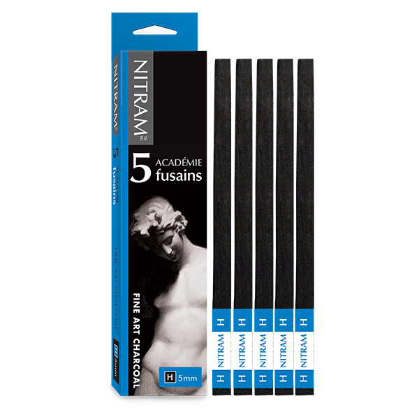 Nitram-Academy-Fusion-Square-H-Hard-Charcoal-5mm-Batons