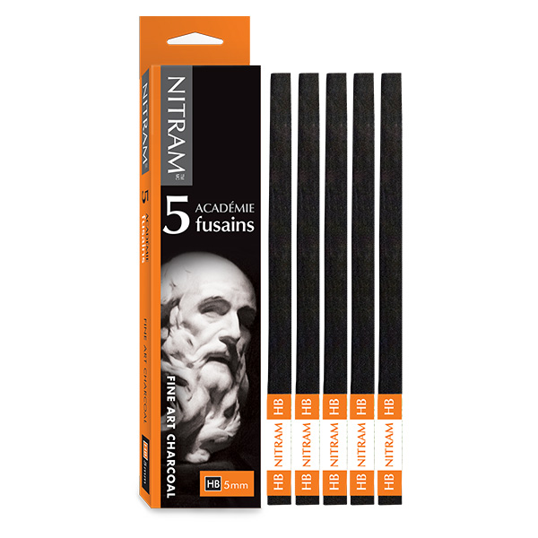 Nitram-Academy-Fusion-Square-HB-Medium-Charcoal-5mm-Batons