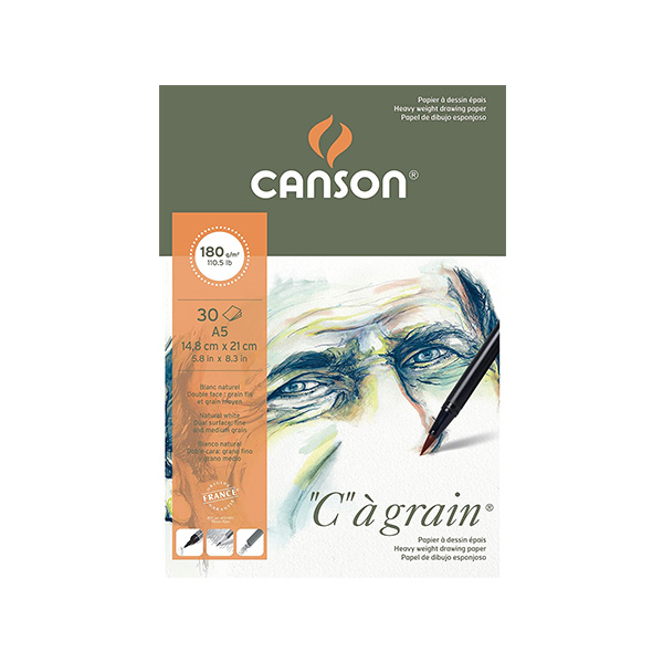 Canson-C-a-Grain-A5-180gsm-Sketch-Pad