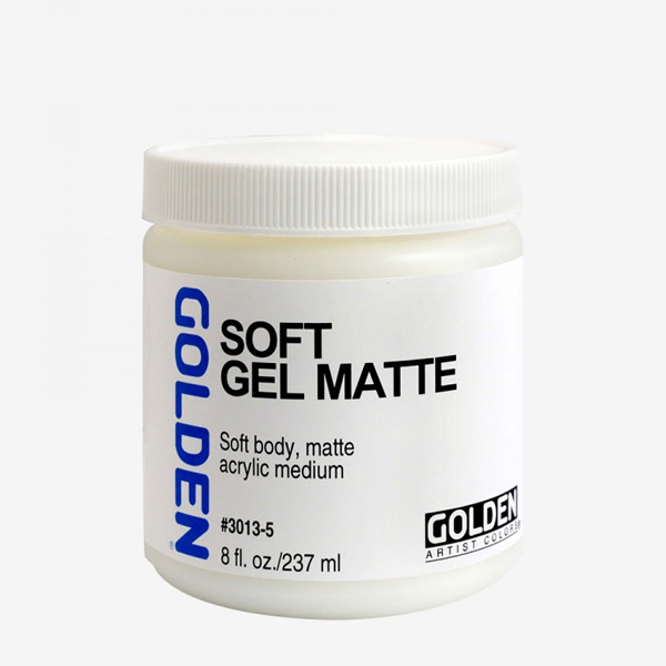 Golden-Gel-Medium-Soft-Gel-Matte-(3013)-237ml-Bottle