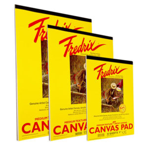 Fredrix-White-Canvas-Pads-In-Various-Sizes