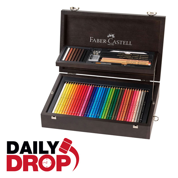 Daily-Drop-Faber-Castell-Art-and-Graphic-Collection-Wooden-Case-Opened-Up
